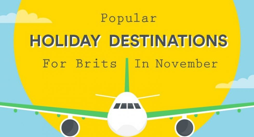 Popular Holiday Destinations For Brits In November Infographic Cover