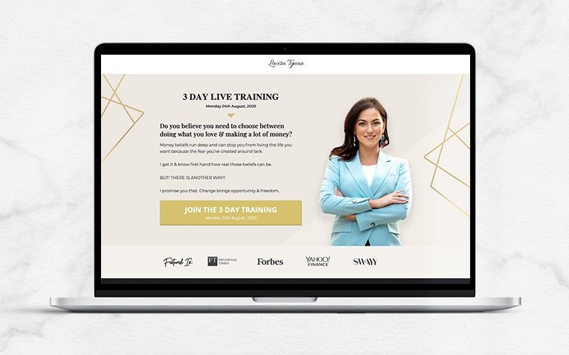 Laura Tynan Live Training Sales Page